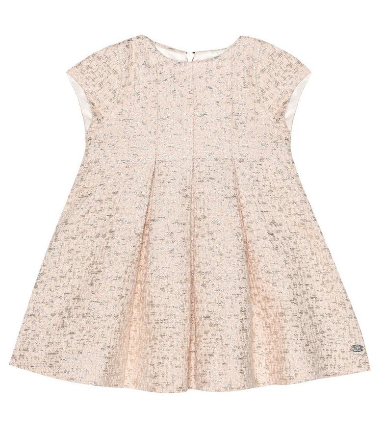 Tartine et Chocolat Baby metallic jacquard dress in pink