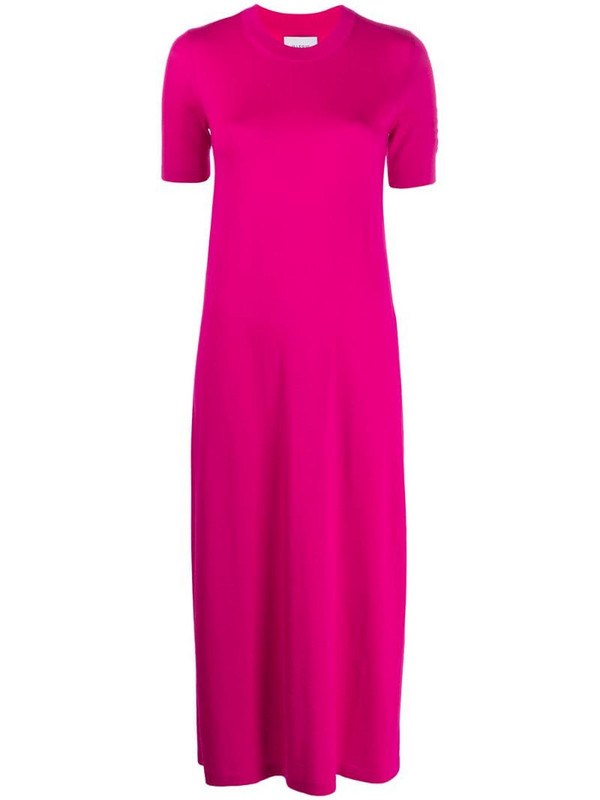 Barrie knitted midi dress in pink