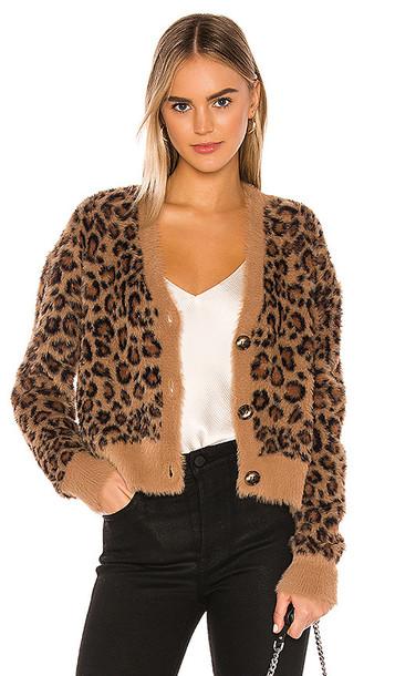 Bella Dahl Sweater Cardigan in Brown