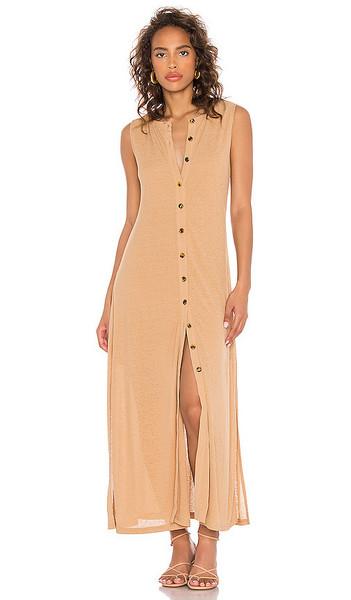 Callahan X REVOLVE Mira Dress in Tan in camel