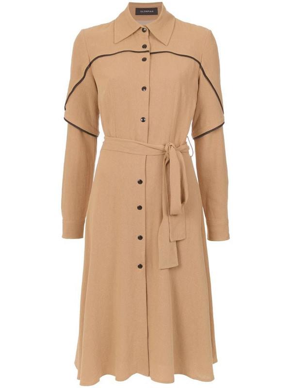 Olympiah Jasmine shirt dress in brown