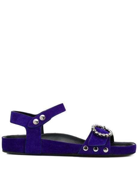Isabel Marant crystal buckle sandals in blue