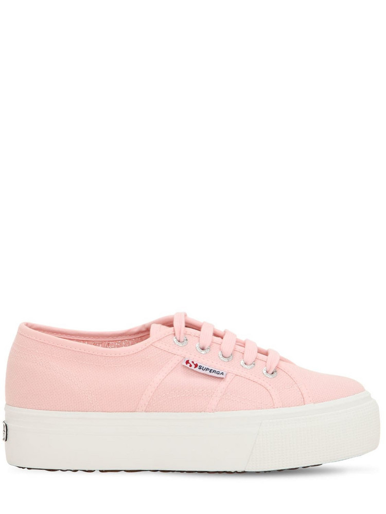 SUPERGA 40mm Canvas Platform Sneakers in pink