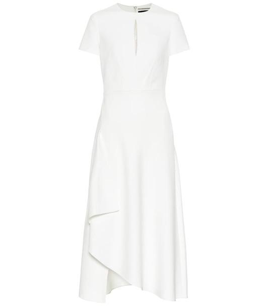Roland Mouret Ardmore crêpe midi dress in white