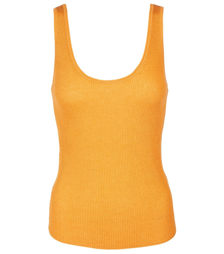 Vince Ribbed-knit tank top in green
