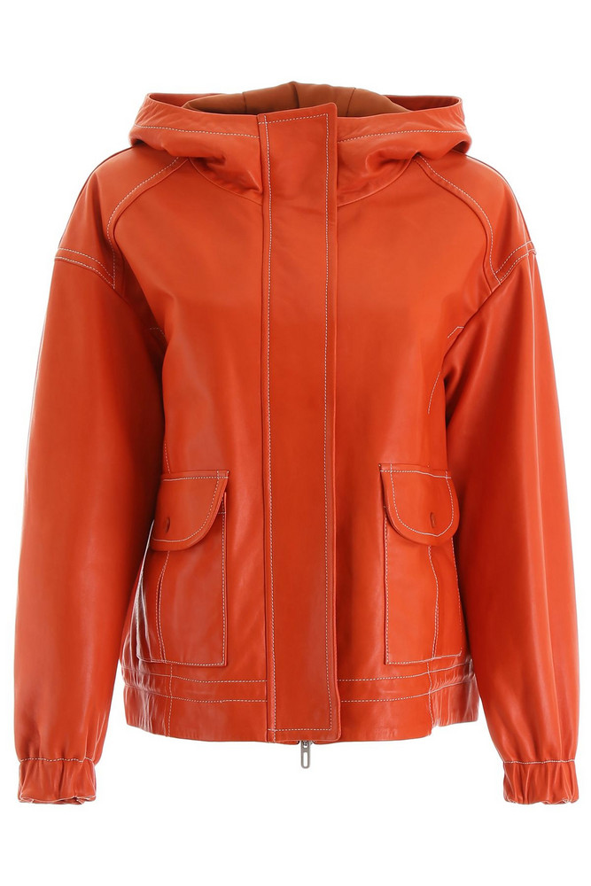 DROMe Hooded Jacket in orange
