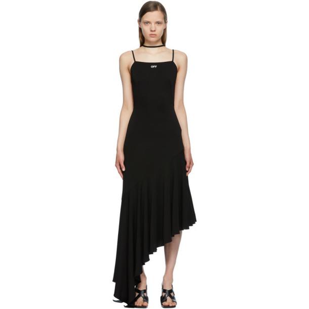 Off-White Black Ruffle Multi-Strap Dress