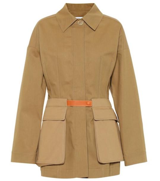 Loewe Cotton-twill jacket in brown
