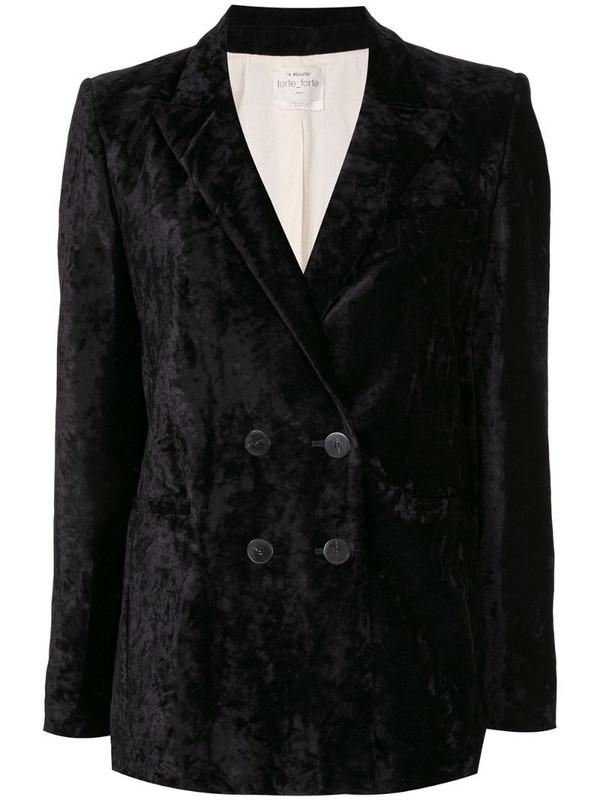 Forte Forte My Jacket velvet blazer in black