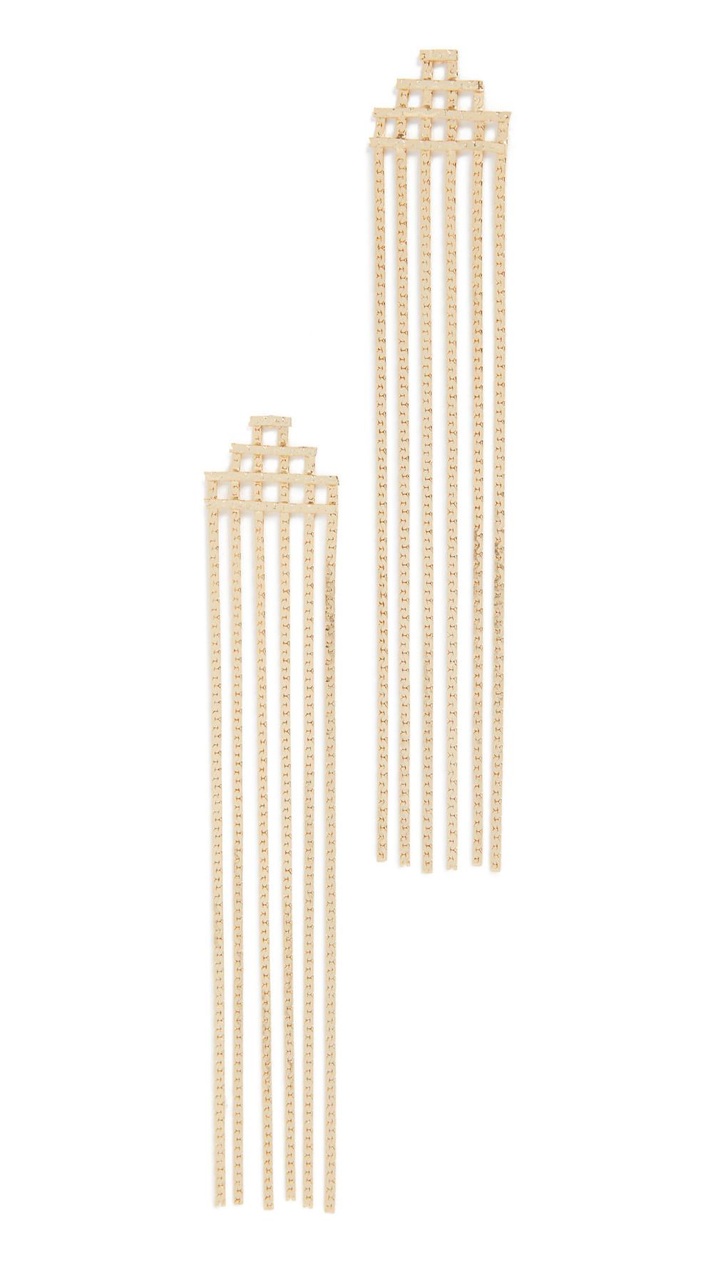 Jules Smith Disco Fringe Earrings in gold / yellow