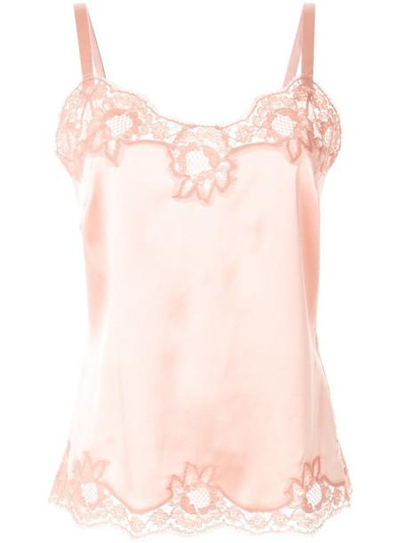Dolce & Gabbana lace trim camisole in pink