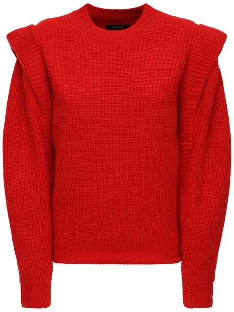 ISABEL MARANT Bolton Wool & Cashmere Knit Sweater in red