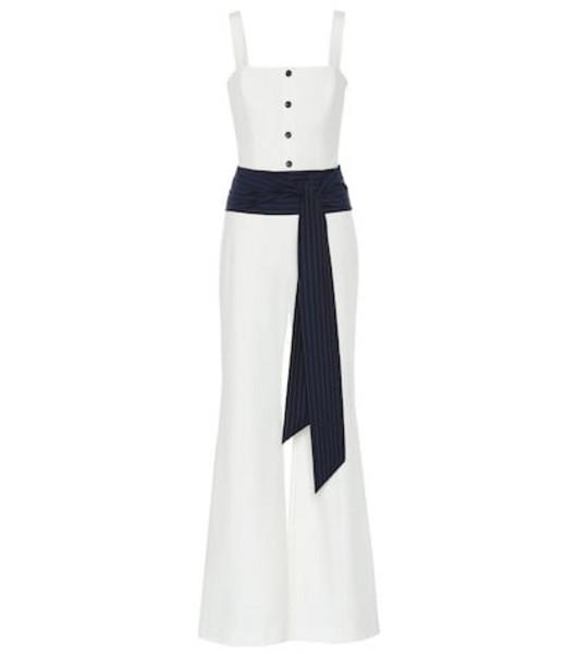 Staud Tao crêpe jumpsuit in white