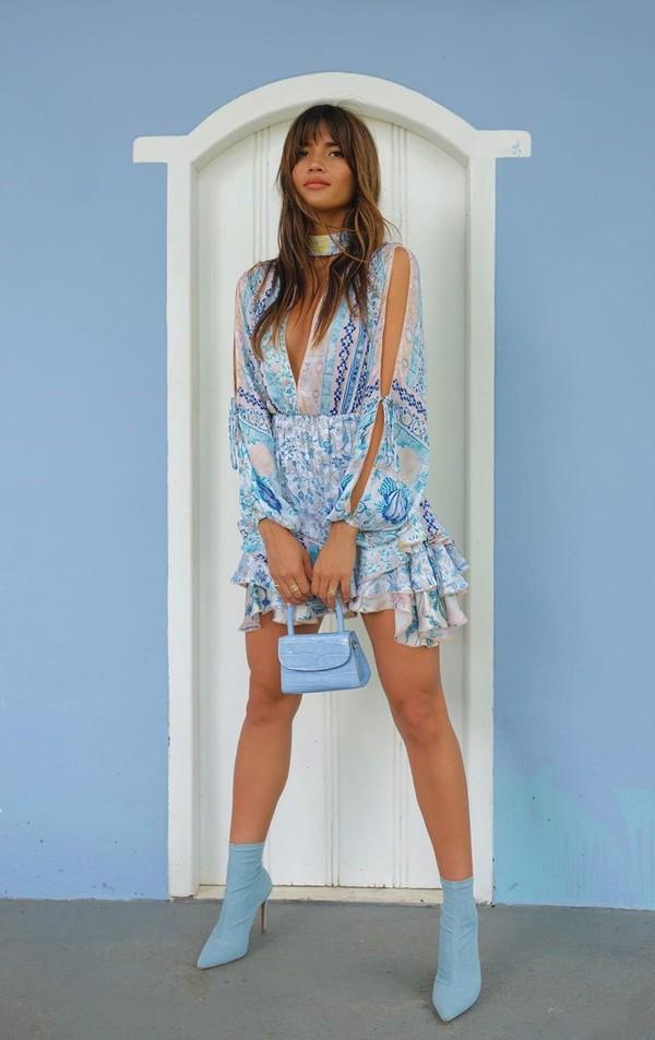 dress summer summer dress rocky barnes blogger mini dress instagram ruffle