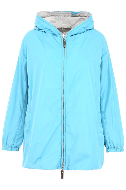 Max Mara Reversible Esporty Parka in blue