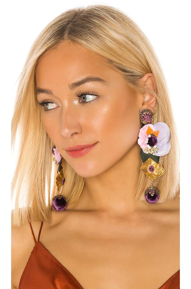 Ranjana Khan Divine Earring in purple