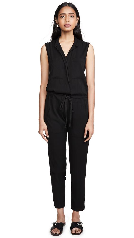 Enza Costa Sleeveless Jumpsuit in black