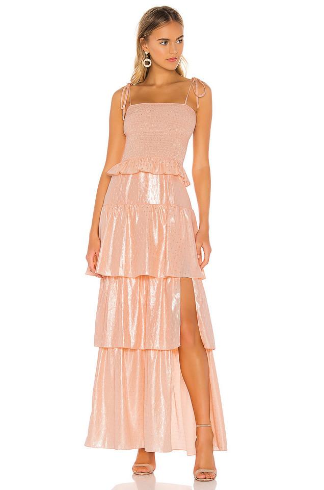 Amanda Uprichard Duchess Maxi Dress in pink
