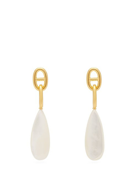 Lizzie Fortunato - Grotto Mother Of Pearl Drop Earrings - Womens - Pearl