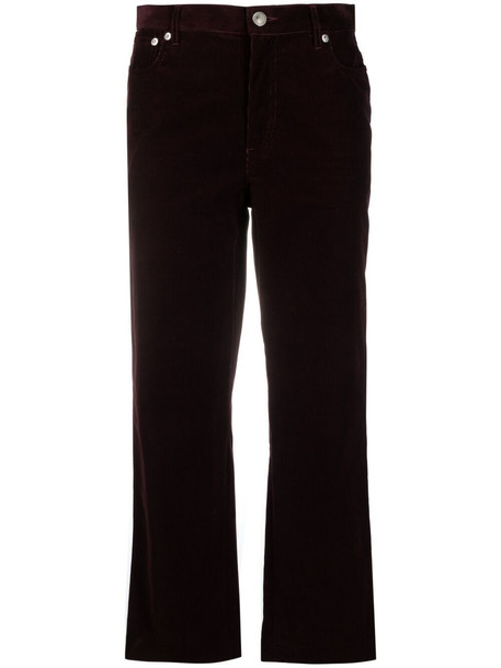 A.P.C. A.P.C. cropped corduroy trousers - Red