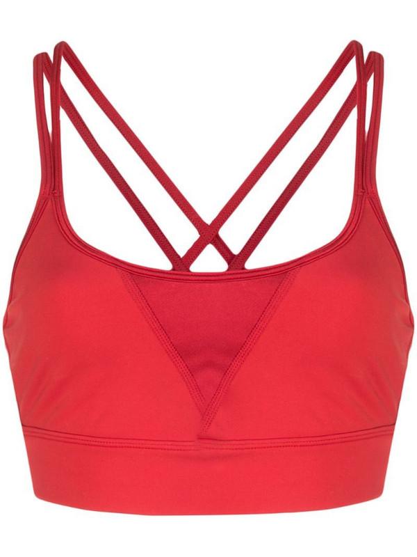 ALALA Peak sports bra in red