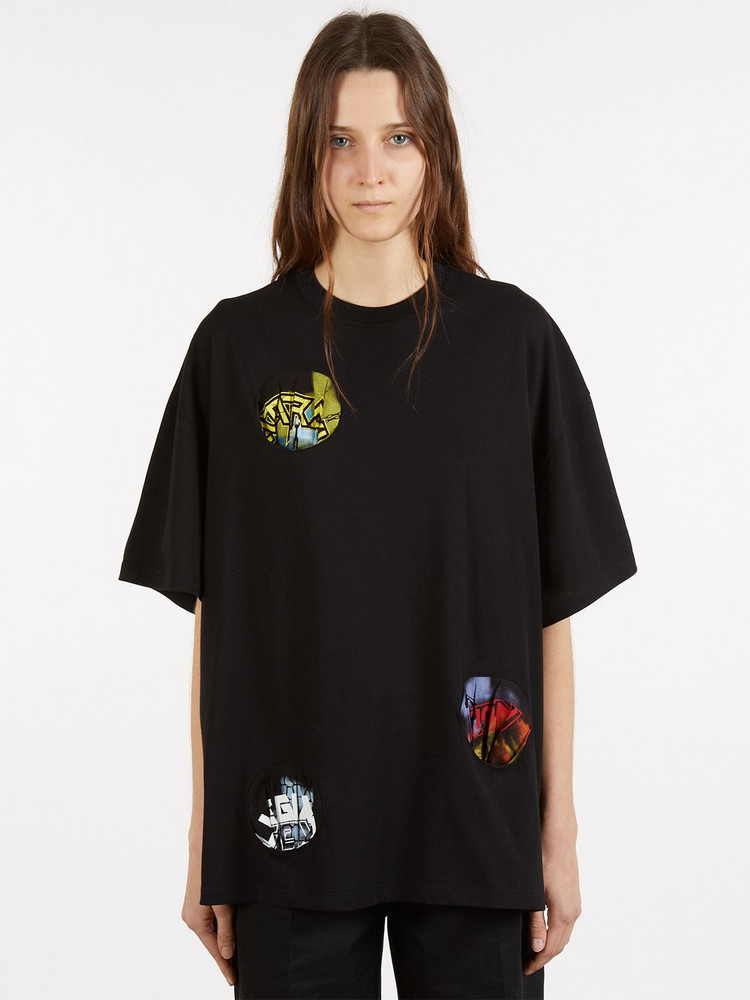 RAF SIMONS Cotton Jersey T-shirt in black