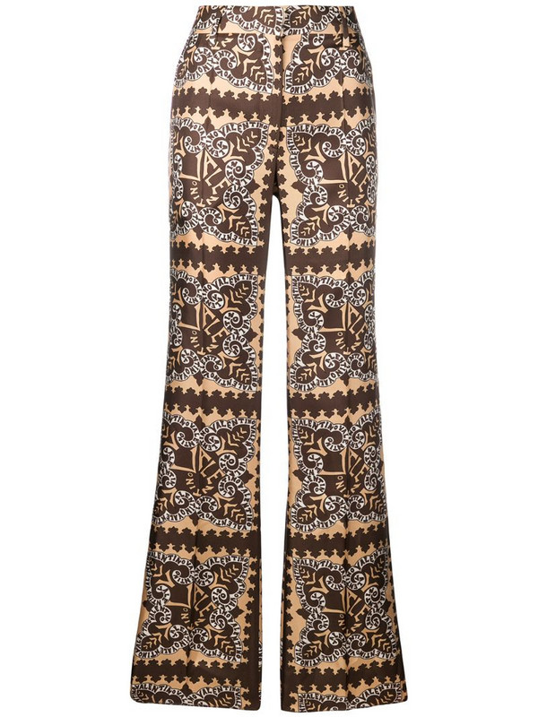 Valentino bandana print trousers in neutrals