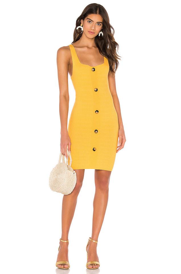 Line & Dot Janne Sweater Dress in yellow