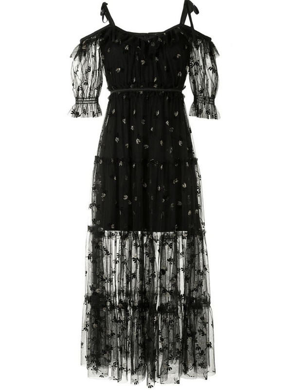 Alice McCall Moon Lover lace-overlay dress in black