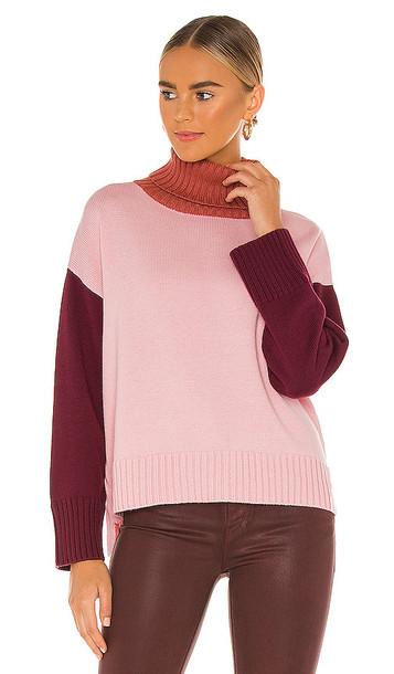 Michael Stars Daria Turtleneck Sweater in Pink
