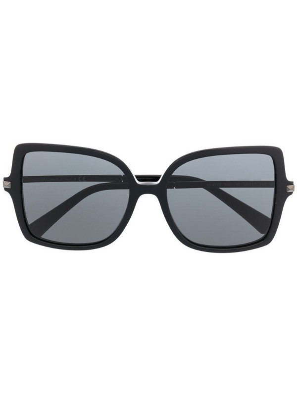 Valentino Eyewear Rockstud square-frame sunglasses in black
