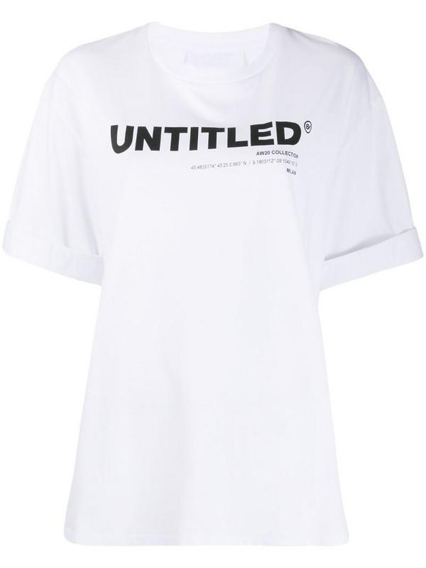 Neil Barrett Untitled print T-shirt in white