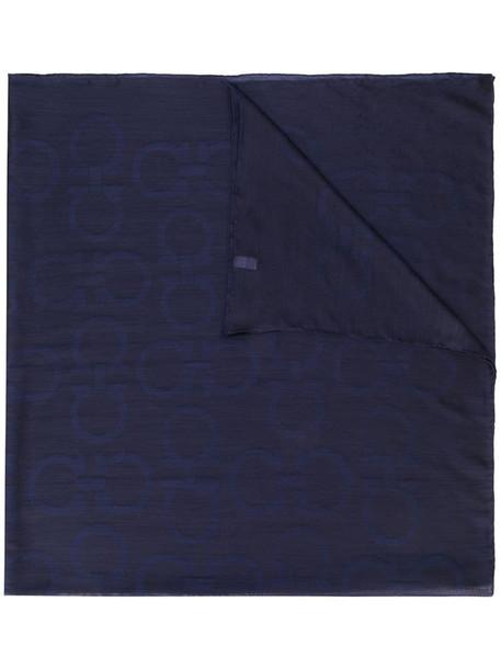 Salvatore Ferragamo Gancini scarf in blue