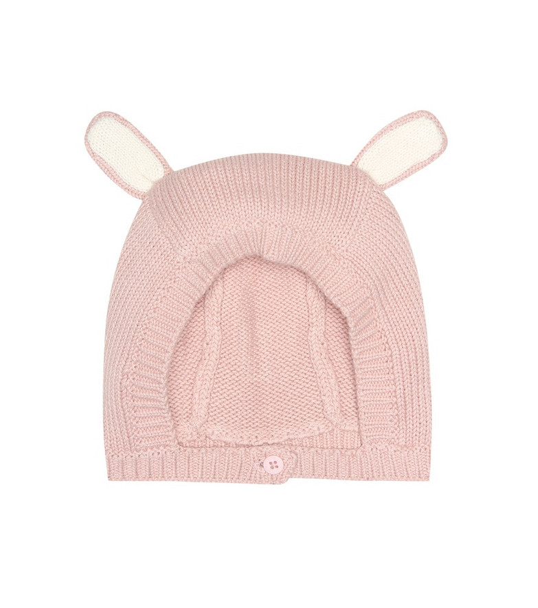 Stella McCartney Kids Baby cotton and wool hat in pink