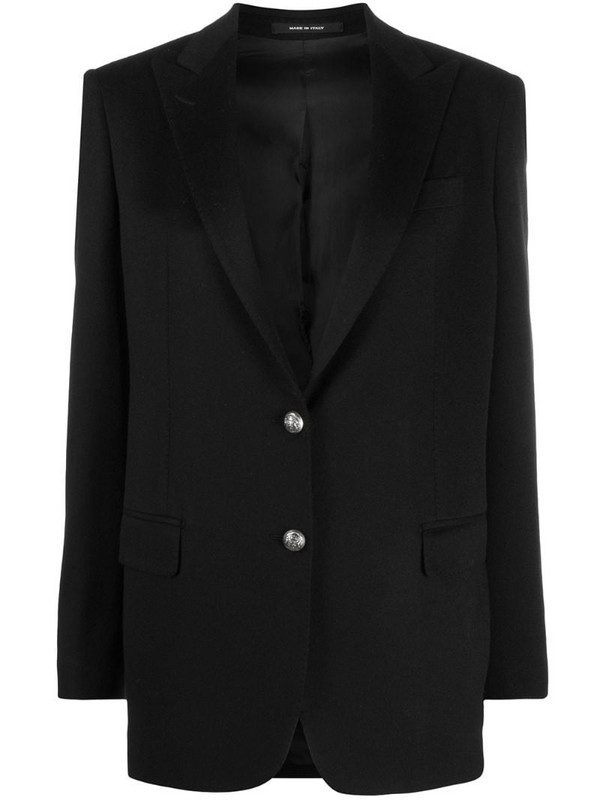 Tagliatore cashmere jacket in black