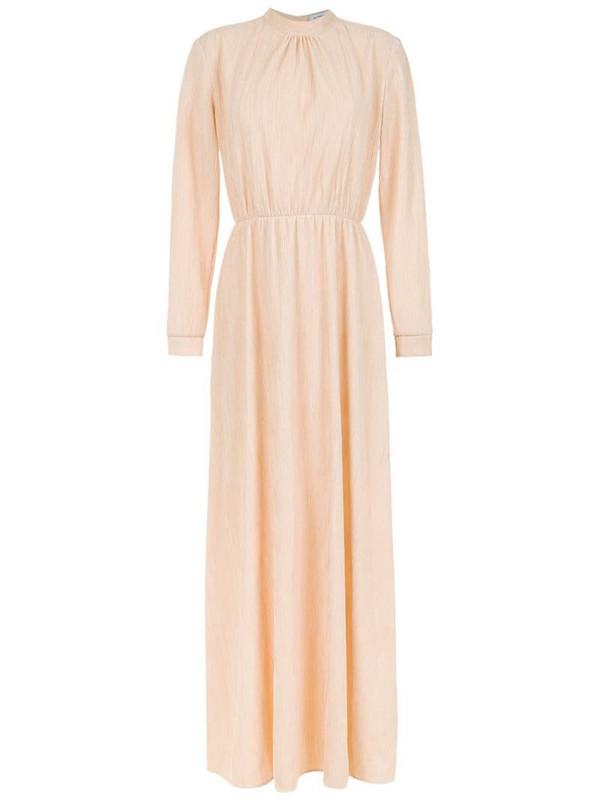 Olympiah Laria dress in neutrals