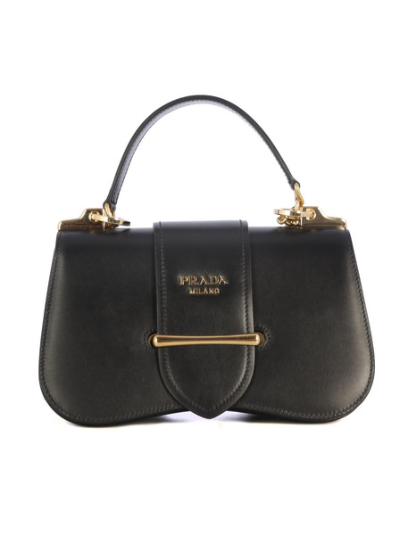 Prada Sidonie Calf Leather Bag in black