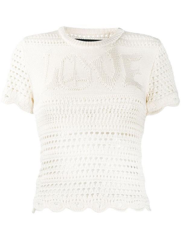 AMIRI crochet knit top in white