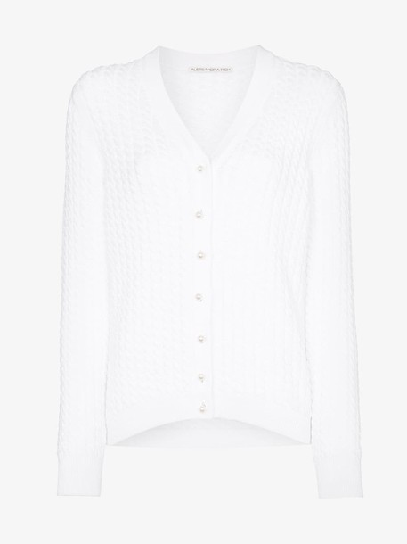 Alessandra Rich Knitted button-down cardigan in white