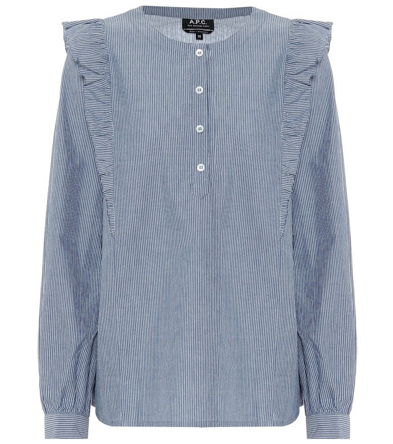 A.P.C. Noemie striped blouse in blue