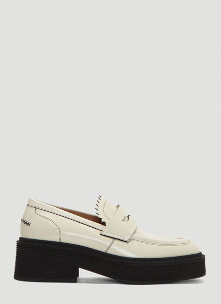 Marni Platform Loafers in White size EU - 37