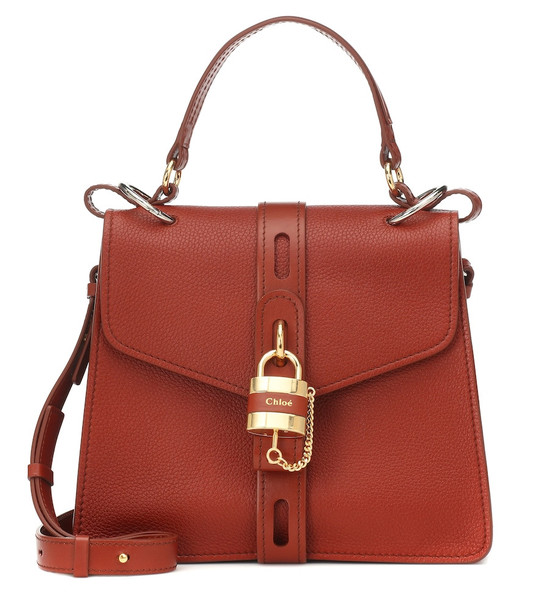 Chloé Aby Medium leather shoulder bag in brown