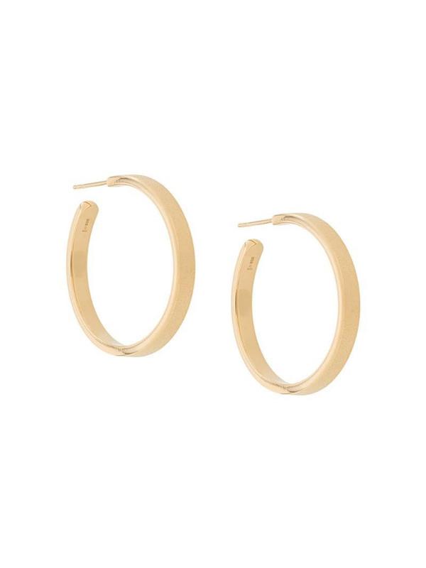 Isabel Lennse frosted hoop earrings in gold