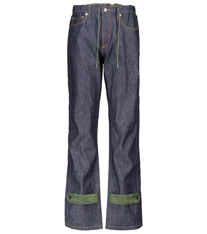 A.P.C. x sacai Haru mid-rise wide-leg jeans in blue