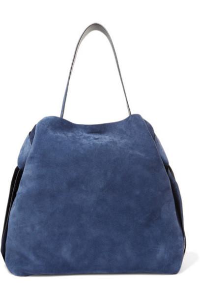 Acne Studios - Musubi Maxi Knotted Suede Shoulder Bag - Navy