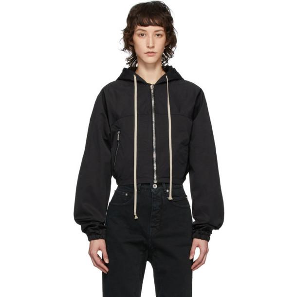 Rick Owens Drkshdw Black Giacca Mini Windbreaker Jacket
