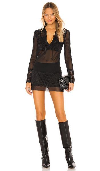 HAH Geis Girl Micro Mini Dress in Black in noir