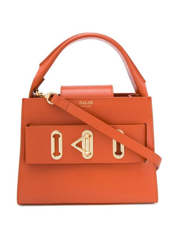 Salar Ludo logo tote bag in orange