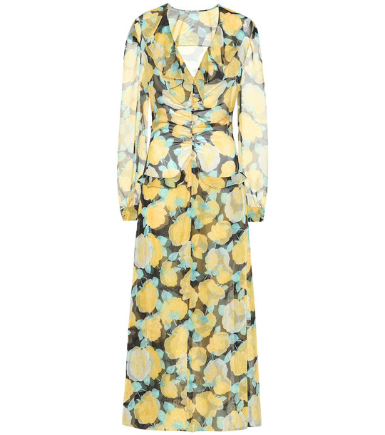 Miu Miu Floral georgette maxi dress