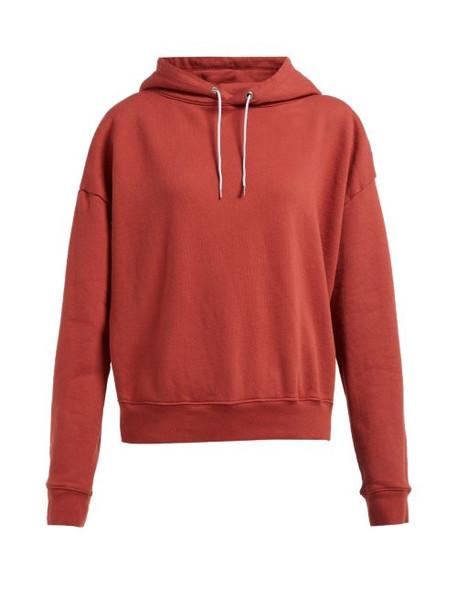 Eckhaus Latta - Logo Printed Hooded Cotton Sweatshirt - Womens - Red